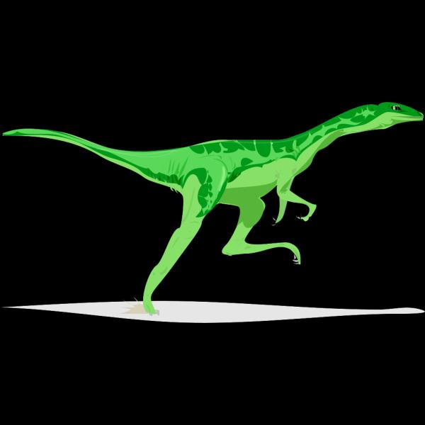Running Green Dinosaur PNG Clip art