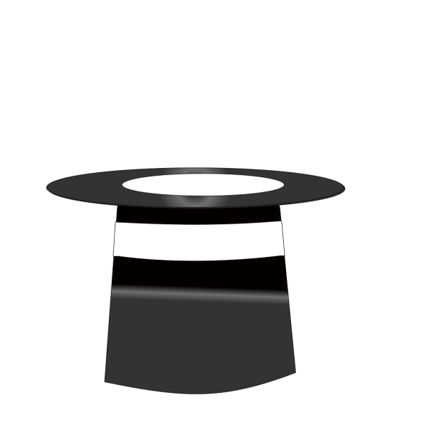 Black & White Magic Hat No Wand PNG Clip art