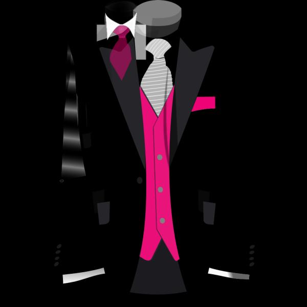 Pink Black Suit PNG images