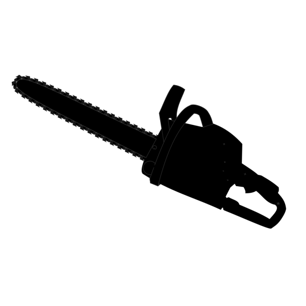 Chainsaw Black Outline PNG images