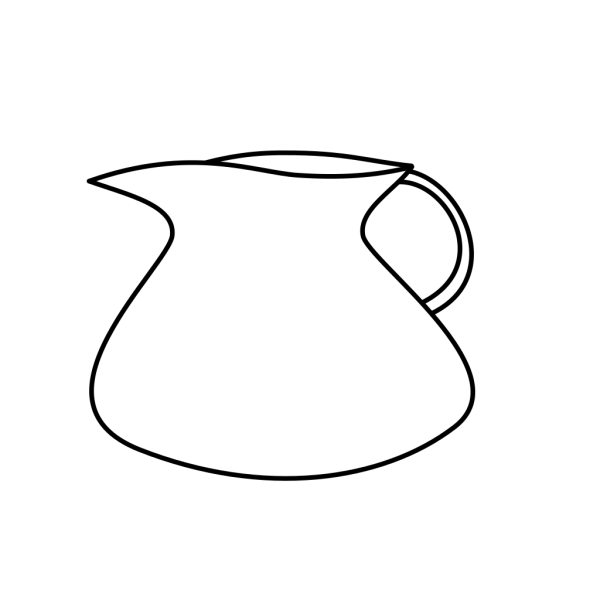 Blank Water Pitcher PNG Clip art
