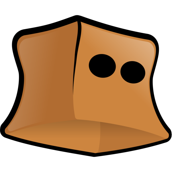 Paper Bag With Eye Holes PNG Clip art