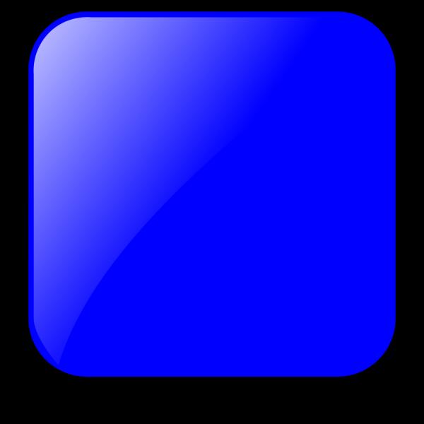 Blank Blue Button PNG Clip art