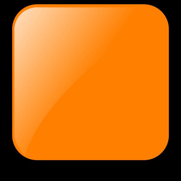 Blank Orange Button PNG Clip art