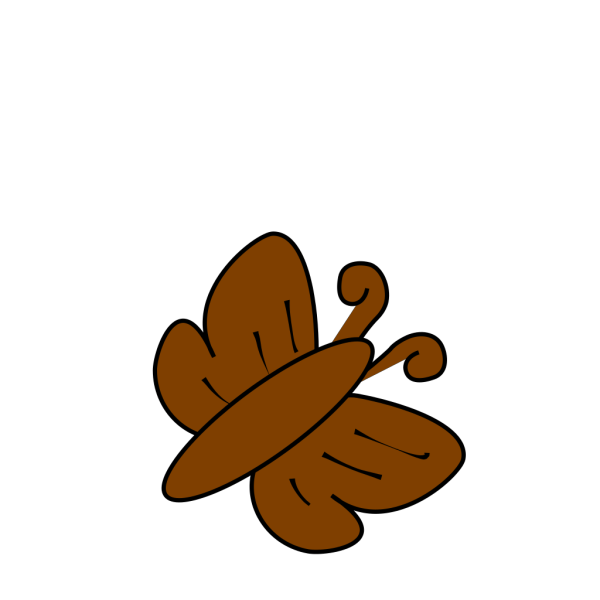 Brown Butterfly PNG Clip art