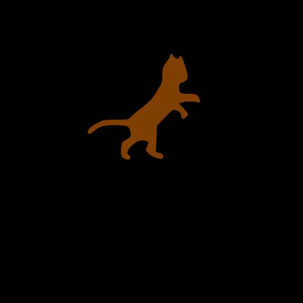 Brown Dancing Cat PNG Clip art