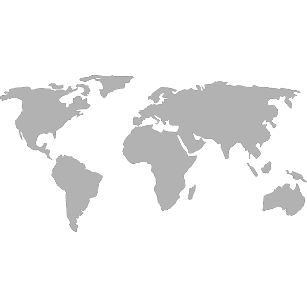 Australian Black Maps PNG icons