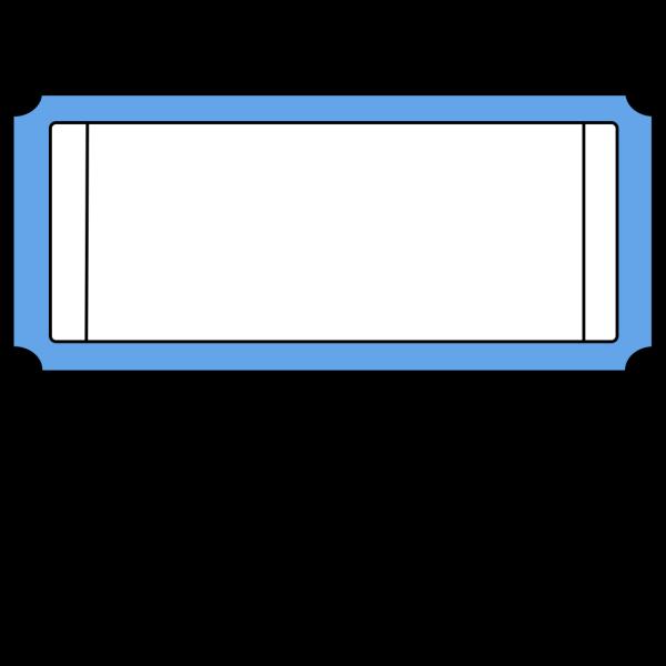 Blue  Ticket PNG Clip art