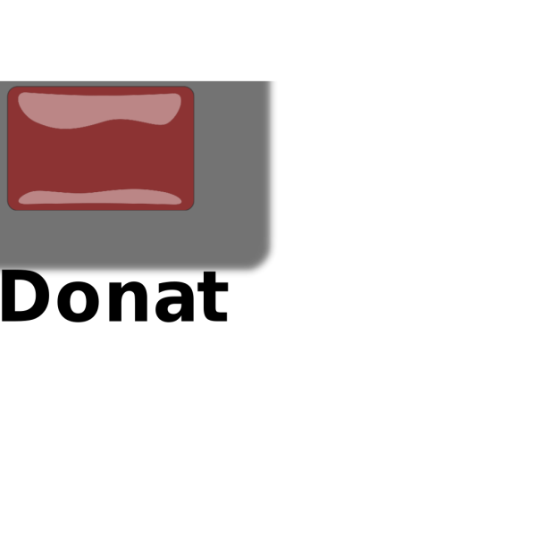 Donate Button PNG Clip art