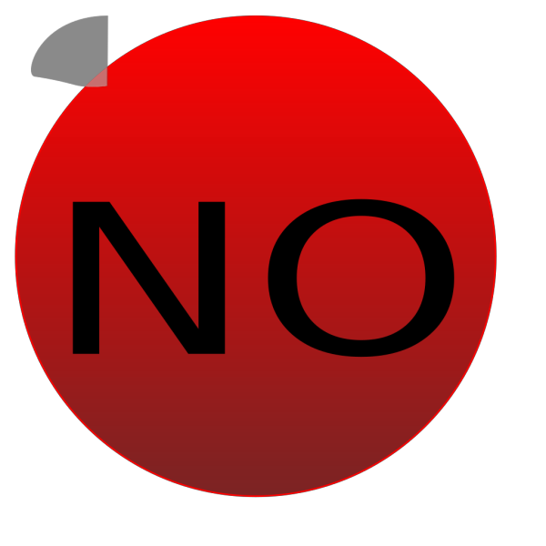 Redbutton No PNG Clip art