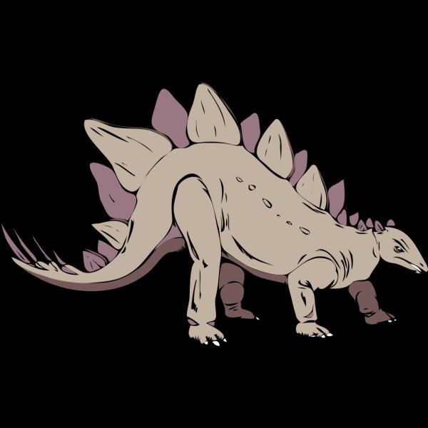Gray Stegosaurus PNG images