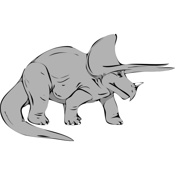 Gray Triceratops PNG Clip art