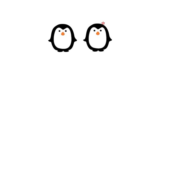 Two Penguins PNG Clip art