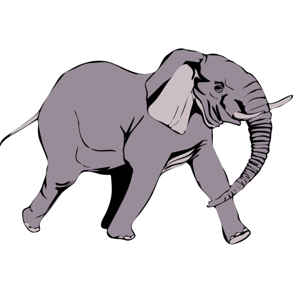 Running Elephant PNG Clip art