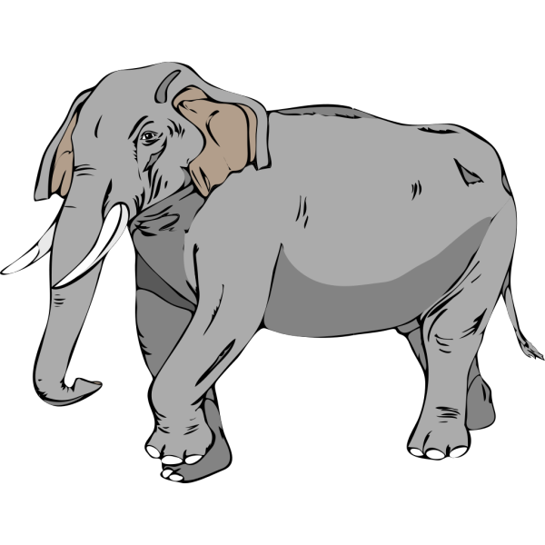 Walking Elephant PNG Clip art