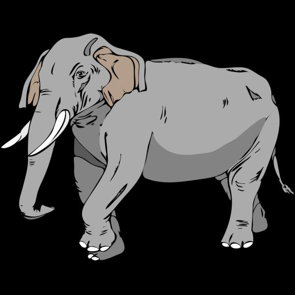 Walking Elephant PNG Clip art