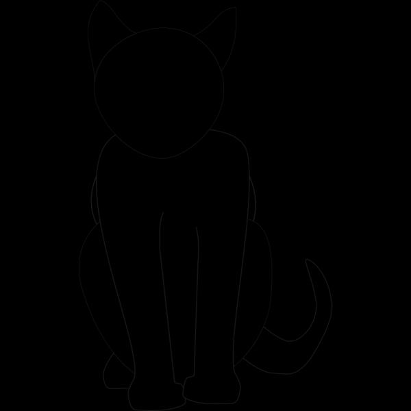 Black Cat Silhouette PNG Clip art