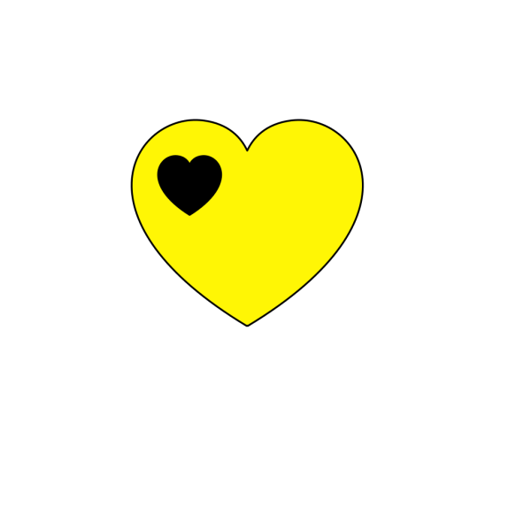 Black And Yellow Heart PNG Clip art