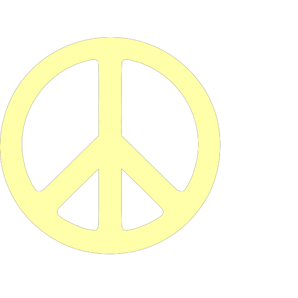 Neon Green & Black Peace Sign PNG Clip art