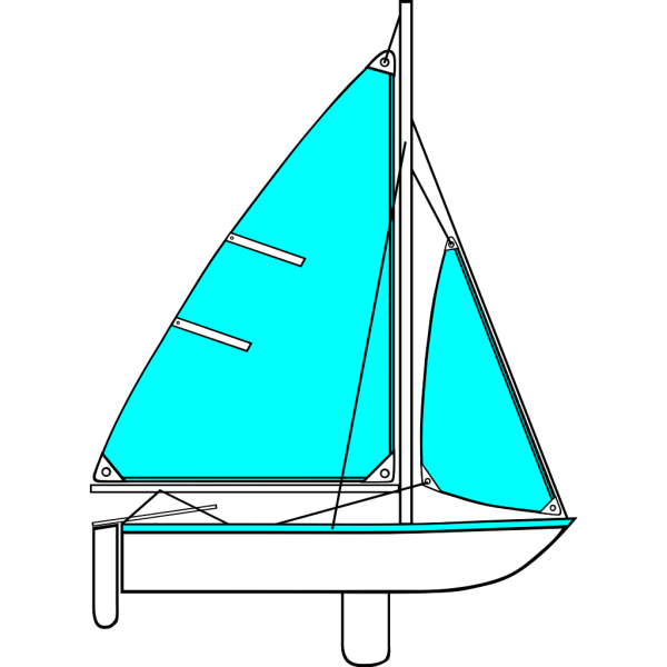 Geometric Sailboat PNG images