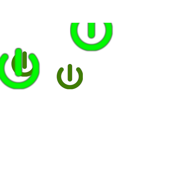 Power On Green PNG Clip art