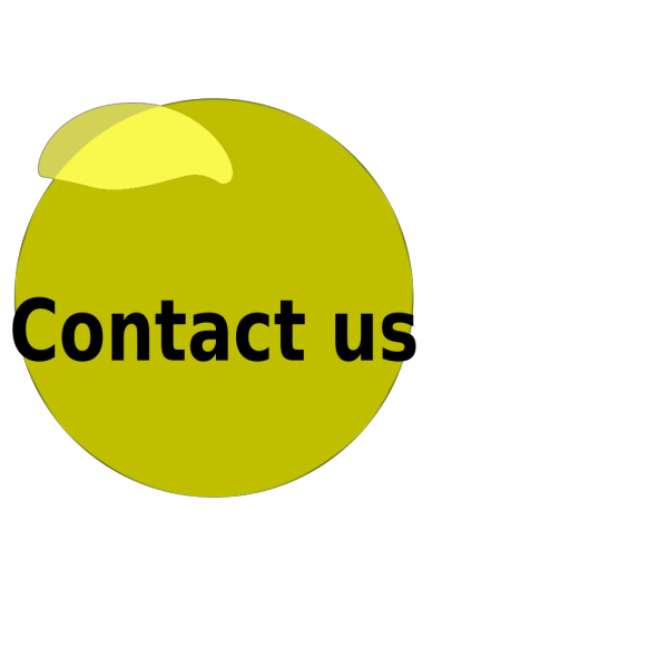 Contact Us Yellow Glossy Button