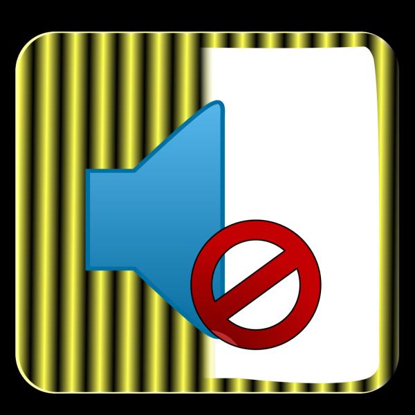 Yellow Mute Button PNG Clip art