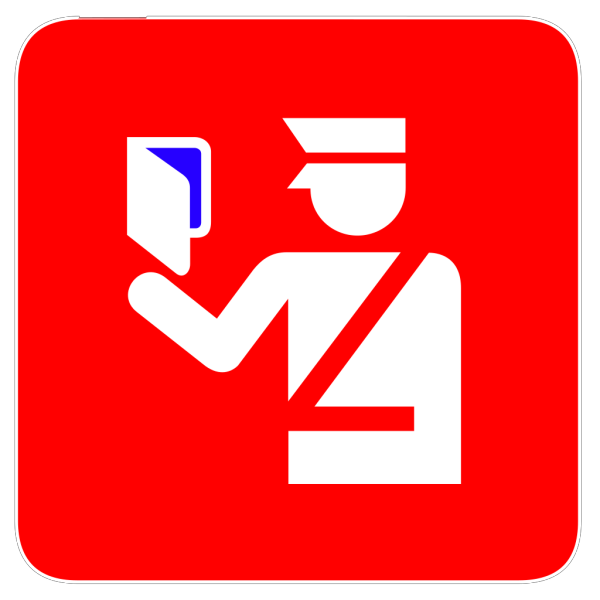 Immigration Police In Red Background Blue 3 Visa PNG Clip art
