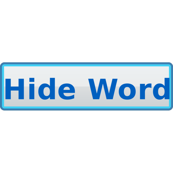Hide Word Button  PNG images