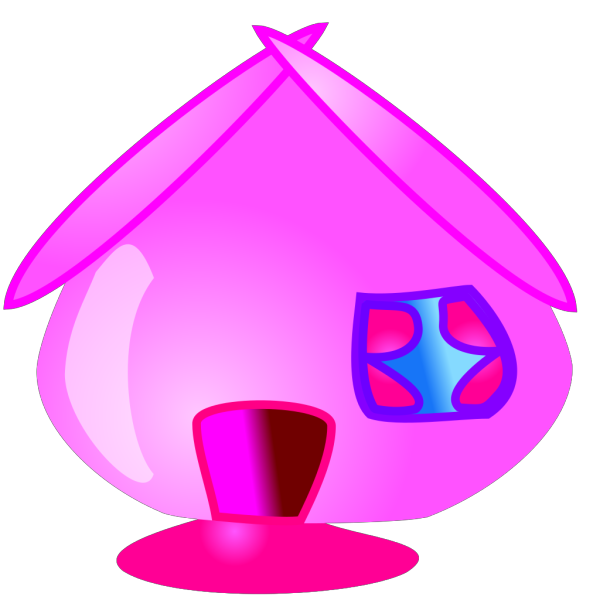 Hot Pink Home Icon PNG Clip art