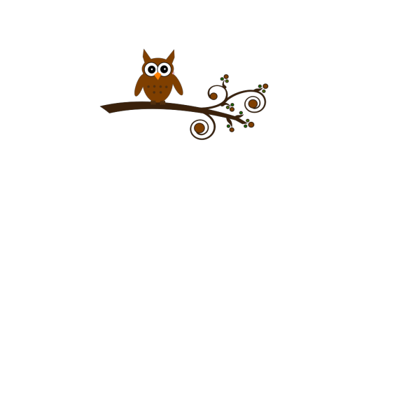Brown Owl On Branch PNG Clip art