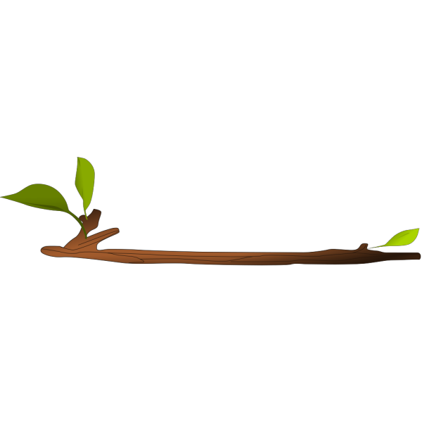 Stick With Leaves PNG Clip art