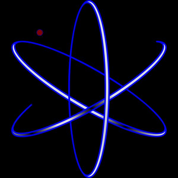 Blue Atom PNG Clip art