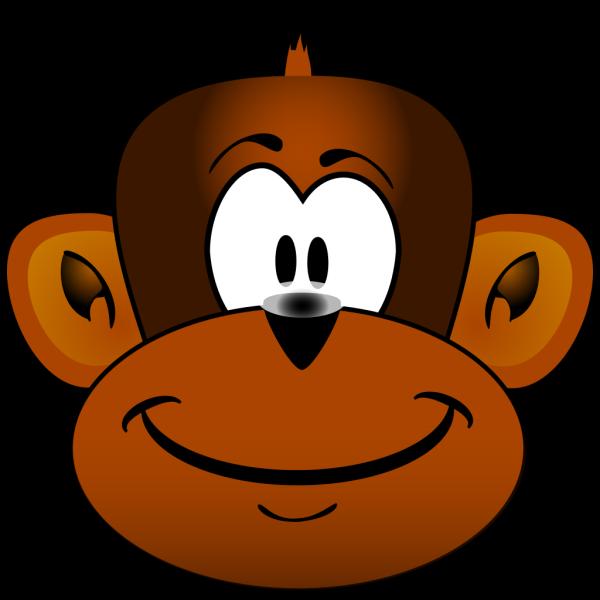 Cartoon Monkey Head PNG Clip art
