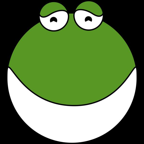 Cute Frog Head PNG Clip art