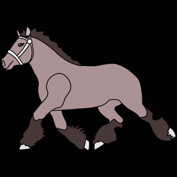 Simple Cartoon Horse PNG Clip art