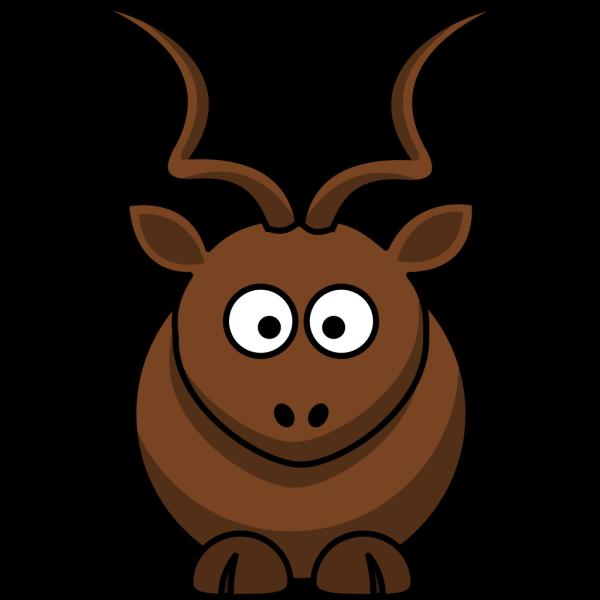 Simple Cartoon Kudu PNG Clip art