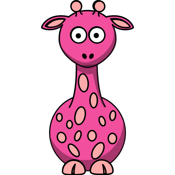 Pink Giraffe With A Few More Than 12 Dots PNG Clip art