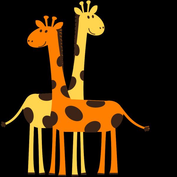 Two Giraffes Animals PNG Clip art