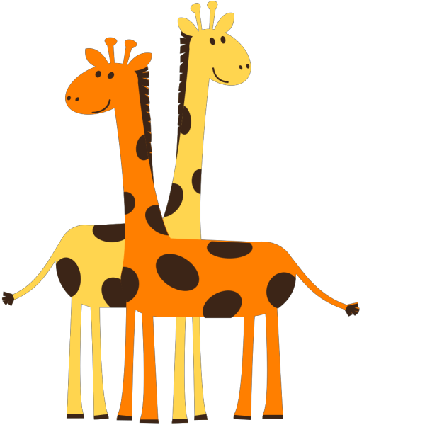 Two Baby Animals PNG Clip art