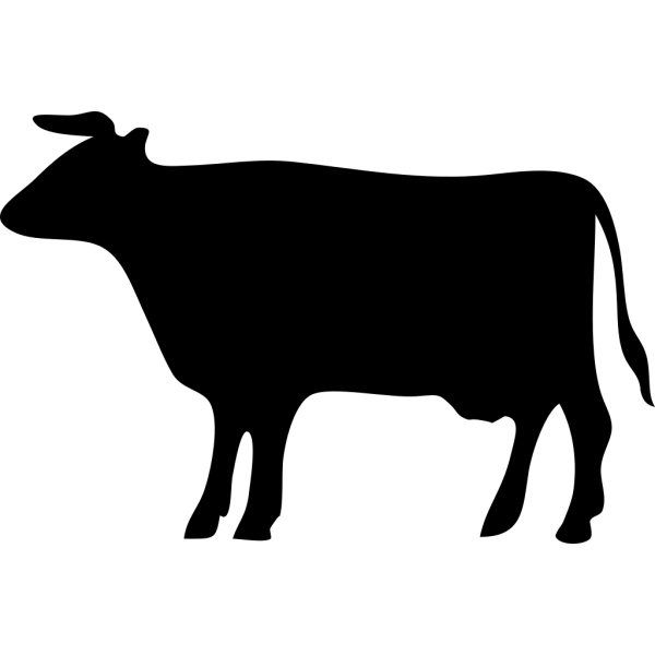 Black Bull Silhouette PNG Clip art