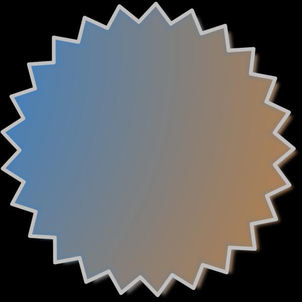 Starburst Outline Black PNG Clip art