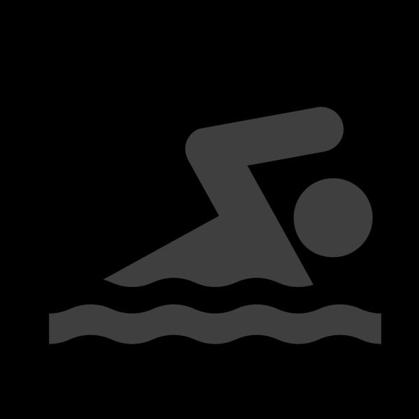 Black Swim PNG Clip art