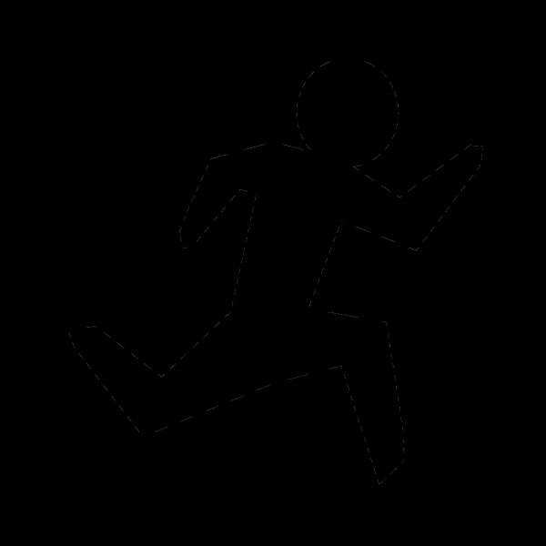 Run Black Run PNG Clip art