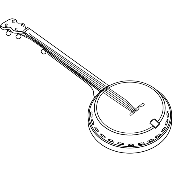 Black Banjo Clip art