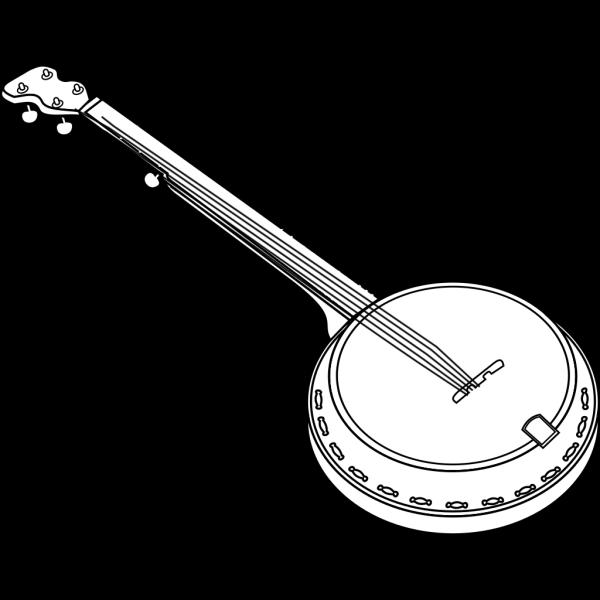 Black Banjo PNG Clip art