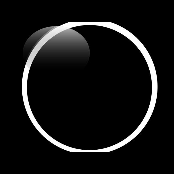 Glossy Black Circle Button PNG Clip art
