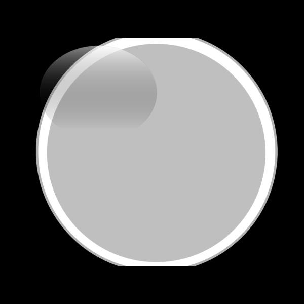 Glossy Gray Circle Button PNG Clip art