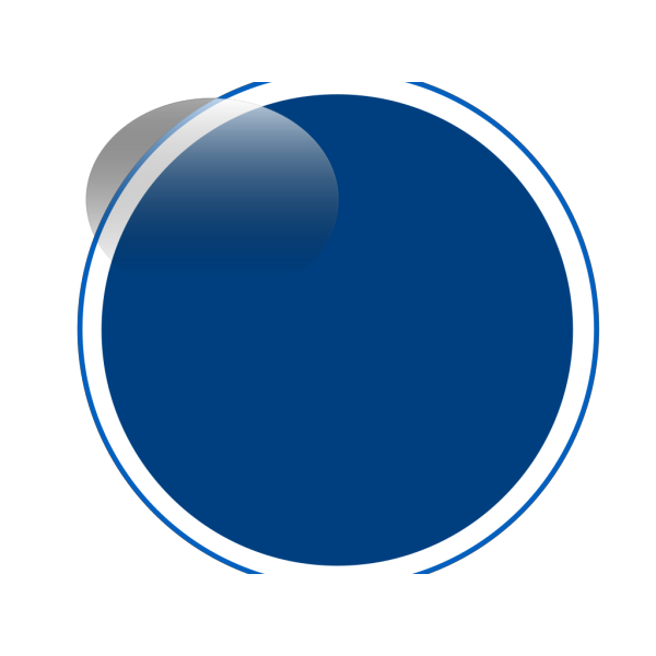 Glossy Blue Circle Button PNG Clip art
