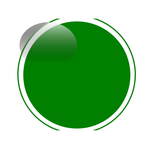 Glossy Green Circle Button PNG Clip art